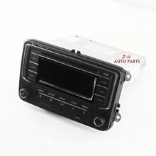 OEM Utilisé De Voiture Radio avec USB AUX MP3 SD Carte Fit VW Golf Jetta MKV Tiguan Passat CC NOUVEAU POLO 6R 3AD035185