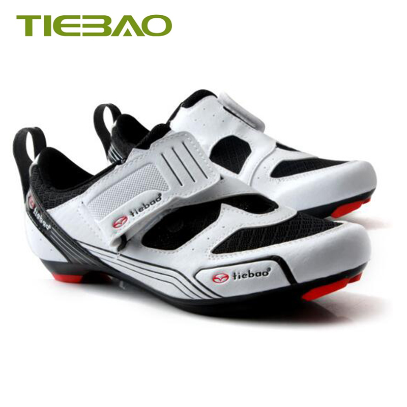 Купить с кэшбэком Tiebao Road cycling shoes 2019 men women sapatilha ciclismo Triathlon shoes self-locking breathable chaussure cyclisme route