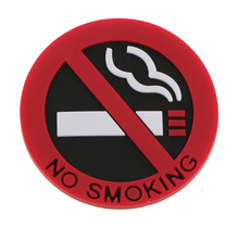 3pcs 5cm No Smoking Sign Stickers Car Interior Warming Adhesive Decal Decor For Store Window Wall Red