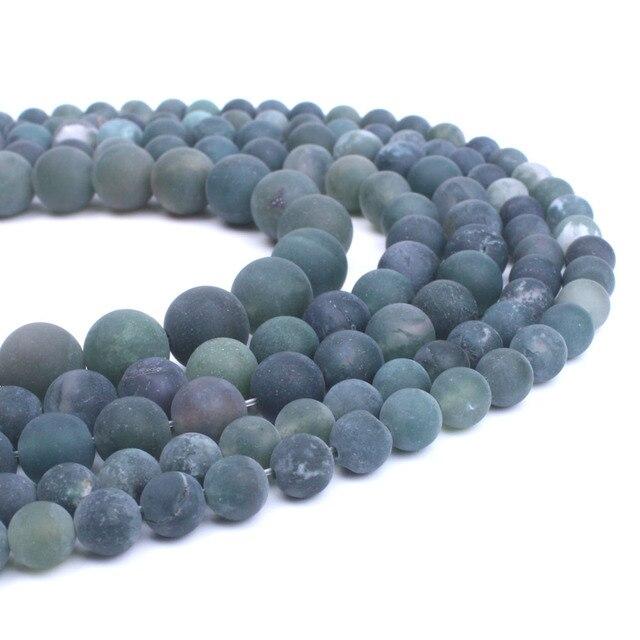 6339c79f7e2f € 2.08  6 8 10mm Piedra Natural opaco pulido mate ónix cuentas redondas  materiales para hacer collares joyería suministros venta al por mayor en ...