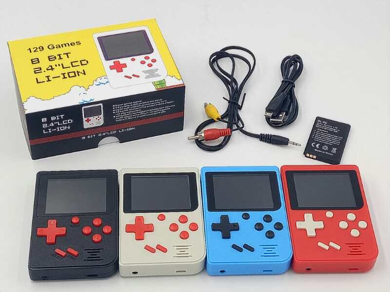 Retro Mini 2 Handheld Game Console Built-in 129 Video Games Player Gift ...