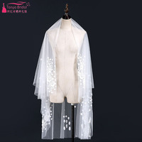 One Layer Short Veils Lace Appliques Cut Edge Bridal Wedding Veils Outstanding Accessories ZV021