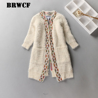 BRWCF New 2017 Girls Sweater Children S Cardigan Jackets Wild Spring Autumn Round Neck Long Sleeve