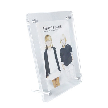 (Pack/10units) Countertop Plexiglass Photo Frame Stand, Screw Acrylic Picture Holder Frame PF023-2