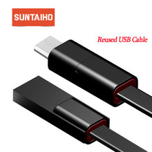 Reutilizados Cable USB regenerar mi cro USB Cable reparable USB tipo C cable de cargador rápido para iPhone cable Max redmi note 7 mi 9 mi 9(China)