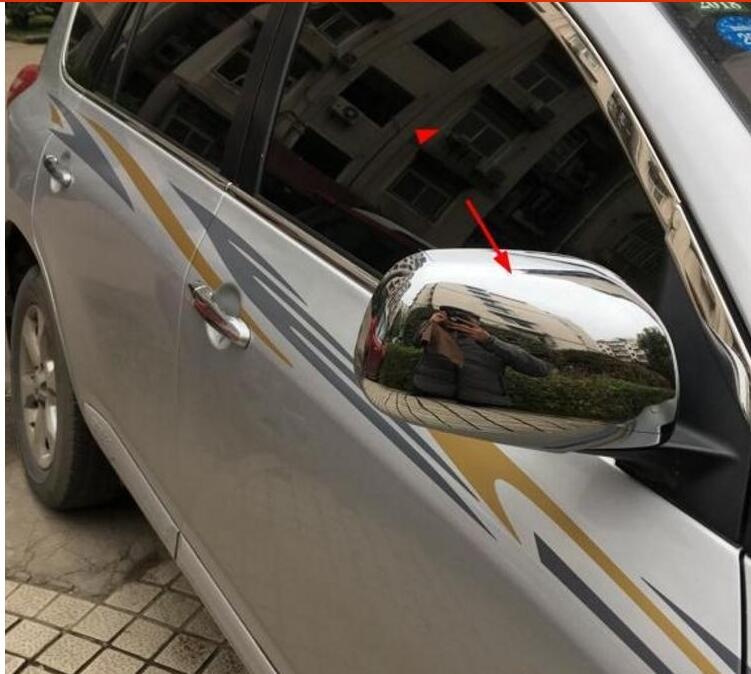 DOOR SIDE WING MIRROR CHROME COVER CAP REAR VIEW TRIM ACCESSORIES FIT FOR <font><b>TOYOTA</b></font> <font><b>RAV4</b></font> <font><b>2006</b></font> 2007 2008 2009 <font><b>2010</b></font> 2011 2012 2pcs image