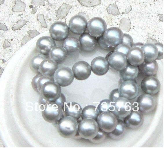 Новый 00633 ОГРОМНЫЙ AAA 11 12 мм ИДЕАЛЬНОЕ КРУГЛЫЙ ЮЖНОГО МОРЯ натуральная серый жемчужное ожерелье 18