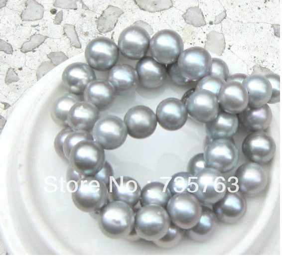 NEW 00633 HUGE AAA 11-12MM PERFECT ROUND SOUTH SEA GENUINE GRAY PEARL NECKLACE 18NEW 00633 HUGE AAA 11-12MM PERFECT ROUND SOUTH SEA GENUINE GRAY PEARL NECKLACE 18