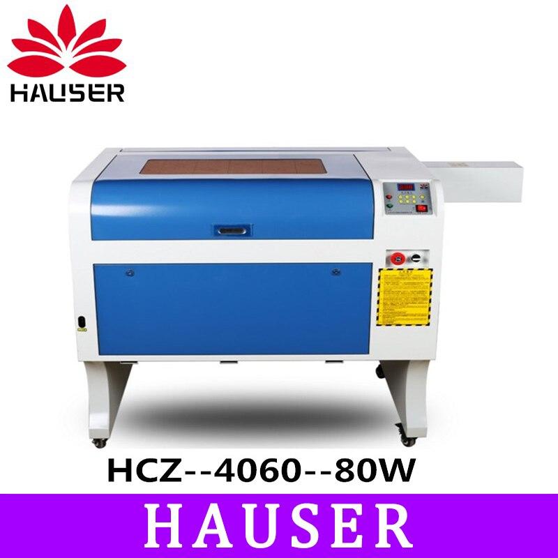 Freies Verschiffen HCZ 80 watt co2 laser CNC 4060 laser gravur cutter maschine laser kennzeichnung maschine mini laser engraver cnc router diy