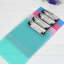 A4 Pp Plastic Color Transparent Plate Clipboard Writing Board With Calibration Clip Customizable Logo