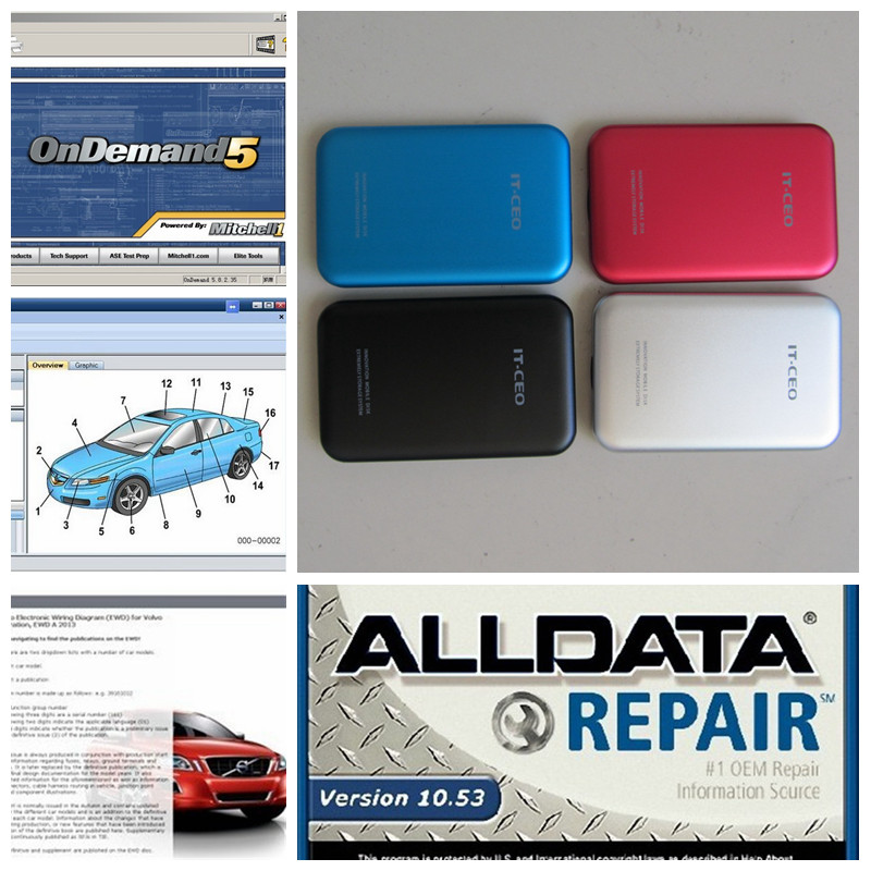 2016 best price auto repair software v10 53 alldata software with mitchell on demand 2015 new
