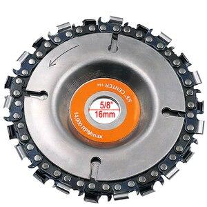 Image 3 - 4 Inch Grinder Disc En Ketting 22 Tand Fijn Cut Chain Set Voor 100 Mm Haakse Slijper