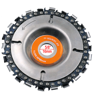 Image 3 - 4 Inch Grinder Disc and Chain 22 Tooth Fine Cut Chain Set For 100mm Angle Grinder