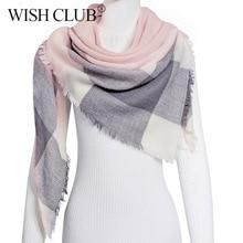 Зимний шарф для женщин, кашемировый клетчатый женский шарф, теплое одеяло, шарф, женские шарфы, шали, бандаж, Bufanda 125*125*180 см