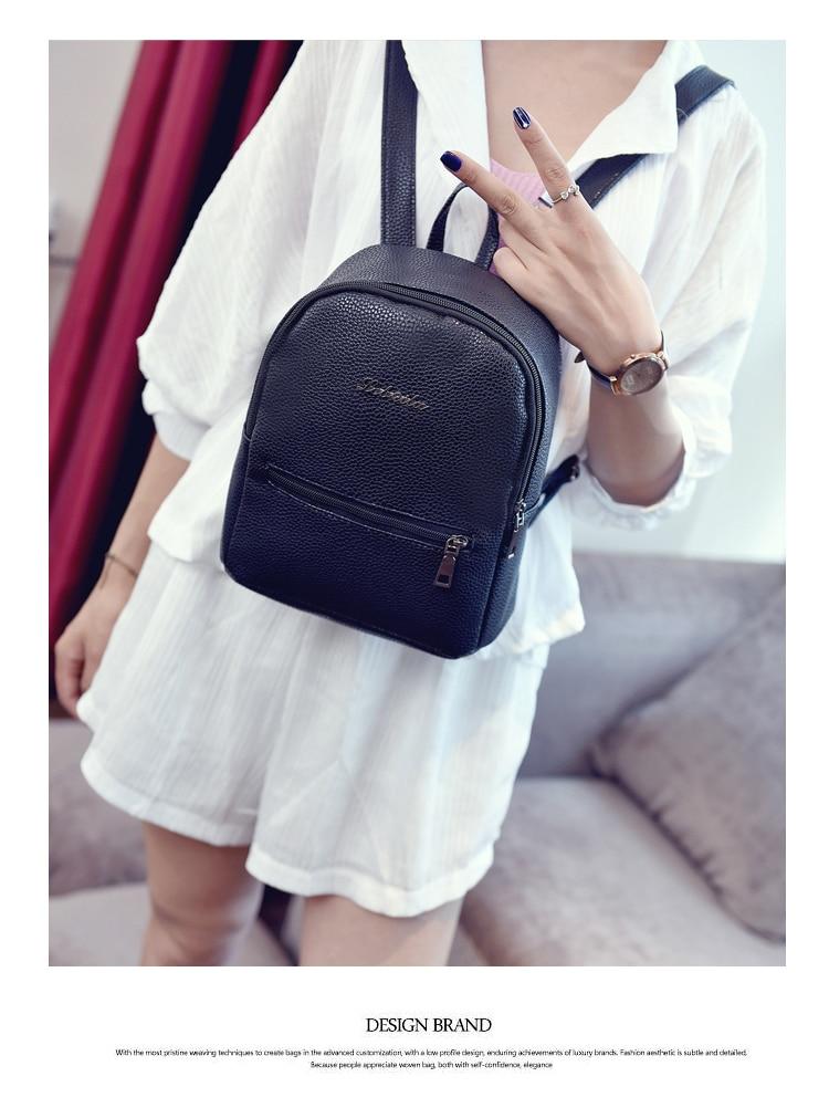 HTB1qsThm2ImBKNjSZFlq6A43FXa0 2019 New Backpack Summer Small Women Backpack Candy Color Student Travel Shoulder Bags Teenager Girls Female Mochila Bagpack