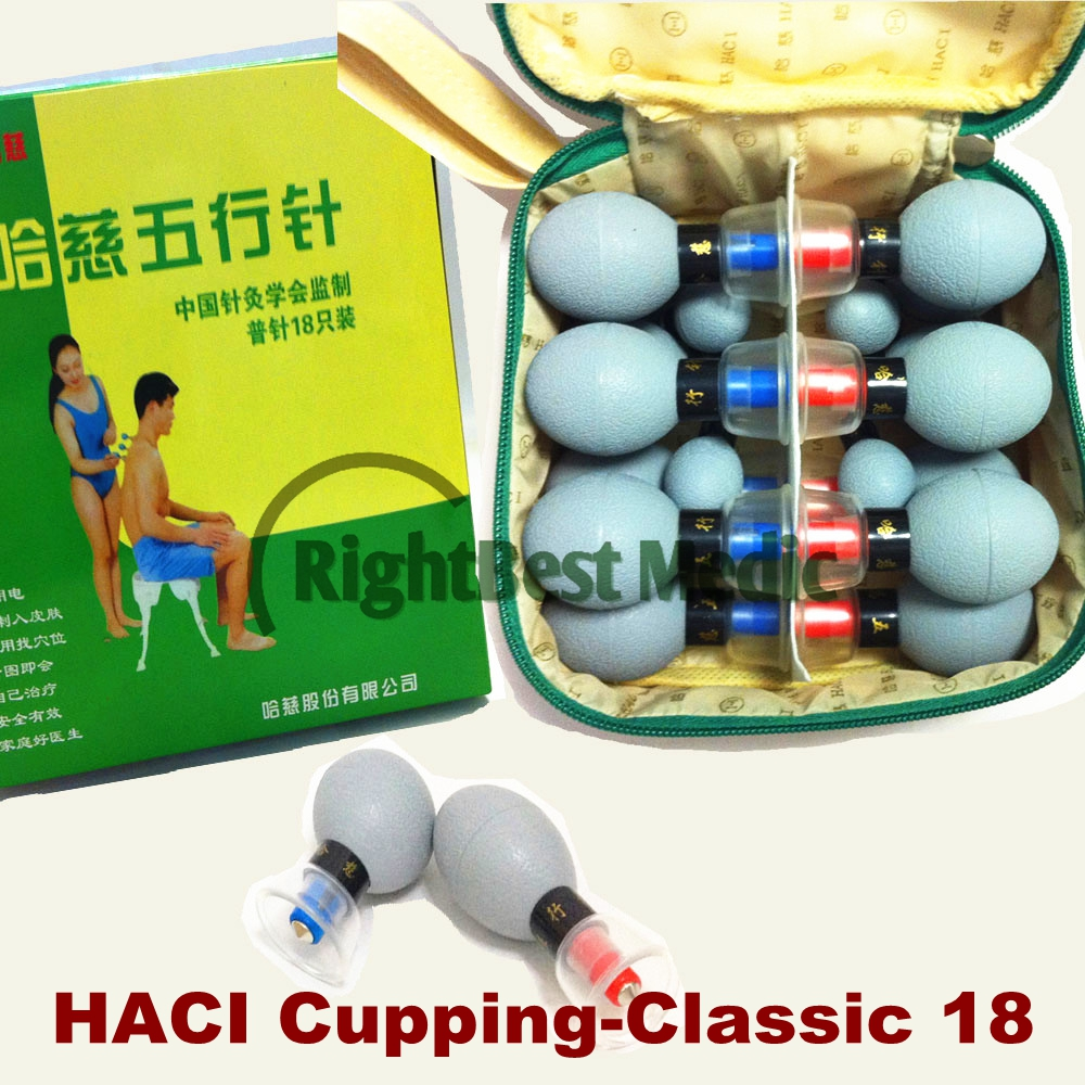 HACI 18 tasses Magnétique Acupressure Magnétique Aspiration Ventouses Set Vide Médicale Chinoise Ventouses Massage therapy Body Beauté Détendre