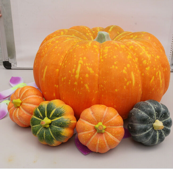 38cm big size funny halloween christmas supplies high artificial foam pumpkins vegetables home market decoration - Plastic Pumpkins