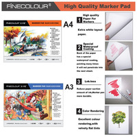 Finecolour Size A3 A4 Manga Sketch Marker Paper Pad 70g Drawing Pad For Art Marker 24