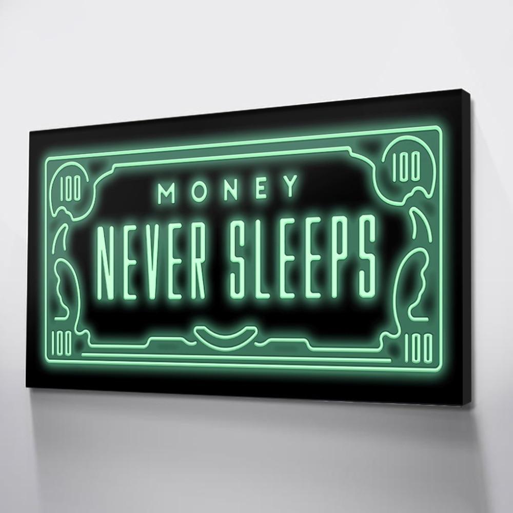 Posters de lona dinheiro parede fotos para o quarto quadros da arte da lona dólar quadros de parede poster impressões morden imagem transporte da gota