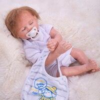OtardDolls 45cm Silicone Reborn Baby Doll Toys For Girls Realistic Soft Cloth Newborn baby Doll Reborn Birthday Christmas Gift