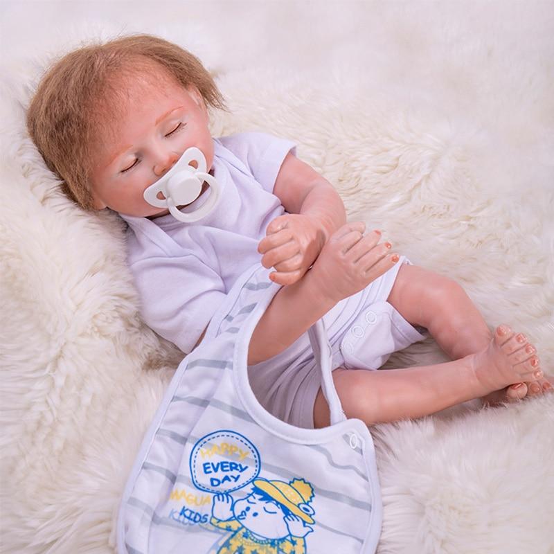 Otarddoll 45 cm Silicone Reborn bébé poupée jouets pour filles réaliste doux tissu nouveau-né bébé poupée Reborn anniversaire cadeau de noël
