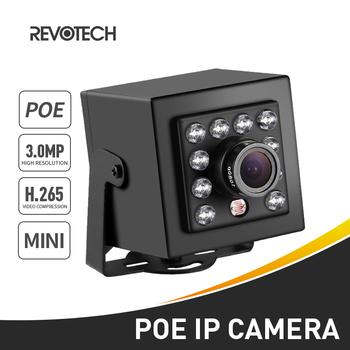 POE H 265 HD 3MP typ mini kamera IP 10 LED IR kryty bezpieczeństwo 1296 P 1080 P noktowizor P2P system cctv kamera do obserwacji wideo tanie i dobre opinie REVOTECH Mini kamery Ip sieci przewodowej Windows 10 Windows vista Windows 8 Windows 7 Windows 98 Windows xp 3 0 Megapikseli
