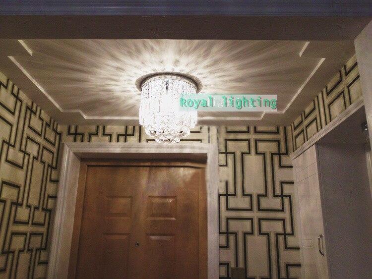 Milan mini veranda licht esszimmer runden kristall deckenleuchte E27 led lampe klarem kristall Küche Flur deckenleuchte - 5