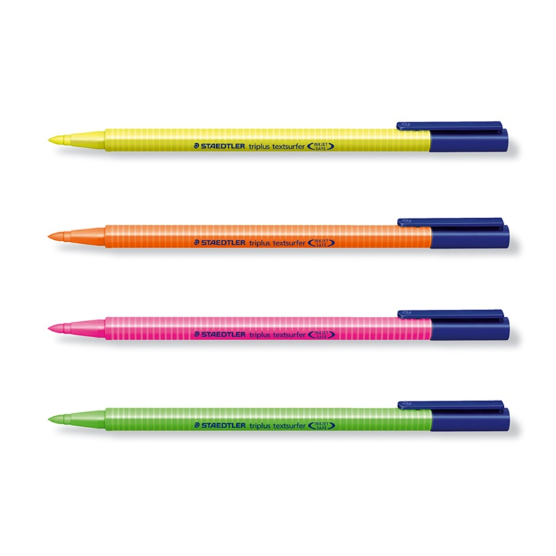 купить 5Pcs STAEDTLER Triplus textsufer Triangular highlighter 362 trigonometric loading neon pen Yellow/Pink/Orange/Green Color недорого