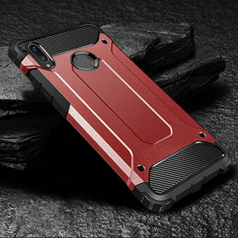 Luxury Armor Shockproof Case On The For Xiaomi Redmi 7 Note 6 7 Pro 5 Plus Soft Case Cover For Xiaomi Pocophone F1 Back Case