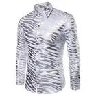 Men Shirt Brand 2018 New Fashion Animal Pattern Striped Long Sleeves Best Quality Mens Shirts Camisa Masculina Casual Male Shirt