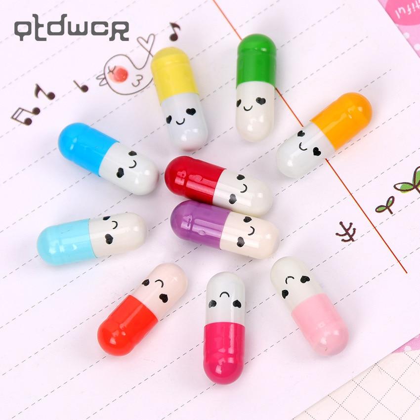 50 PCS/Lot New Message Capsule Envelope Letter Paper For Children Pill Capsule Message Letter Kawaii Emoticon Smile Pill