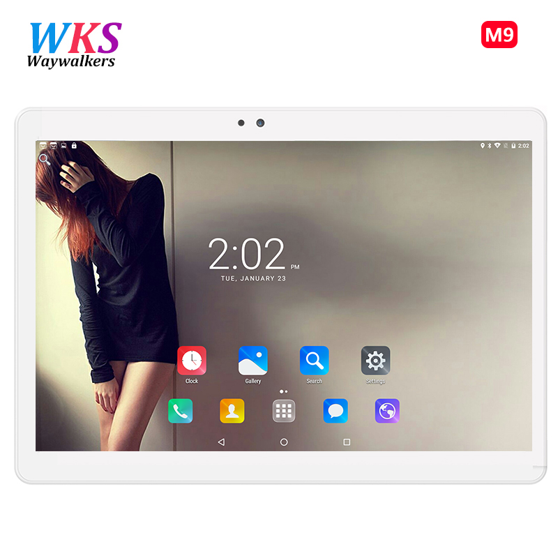 WKS Octa Core 10.1 Inch Android 7.0 Tablets PC 4GB RAM 64GB ROM WIFI 1920*1200 High Definition and simple Tablets 3G Phone C