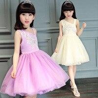 Kids Dress Girl Dress New Summer Fashion Sleeveless Layered Dress Kids Dresses for Girls Clothes Party Princess Dance Dress