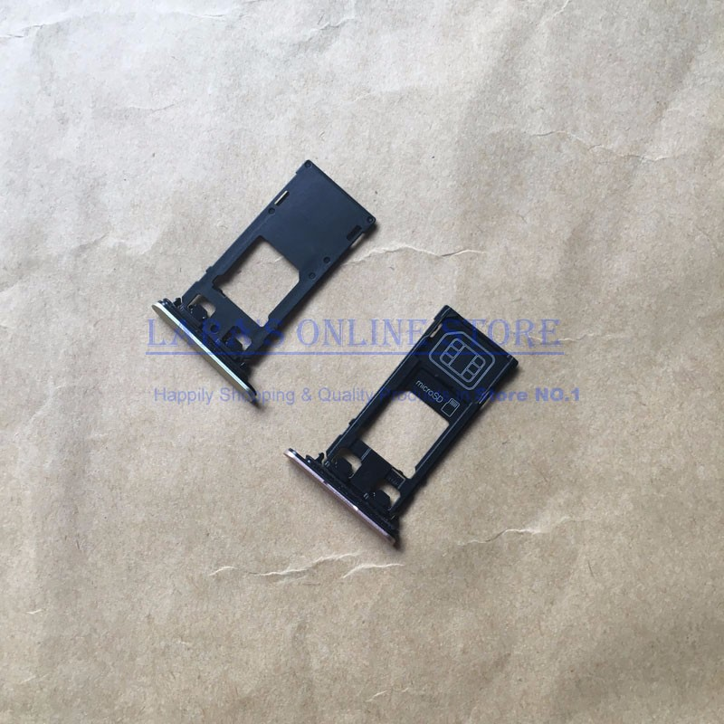 Original New SIM Card Tray + SD Card Reader Holder Slot Adapter for Sony Xperia X XZ X Performance Cellphone Parts