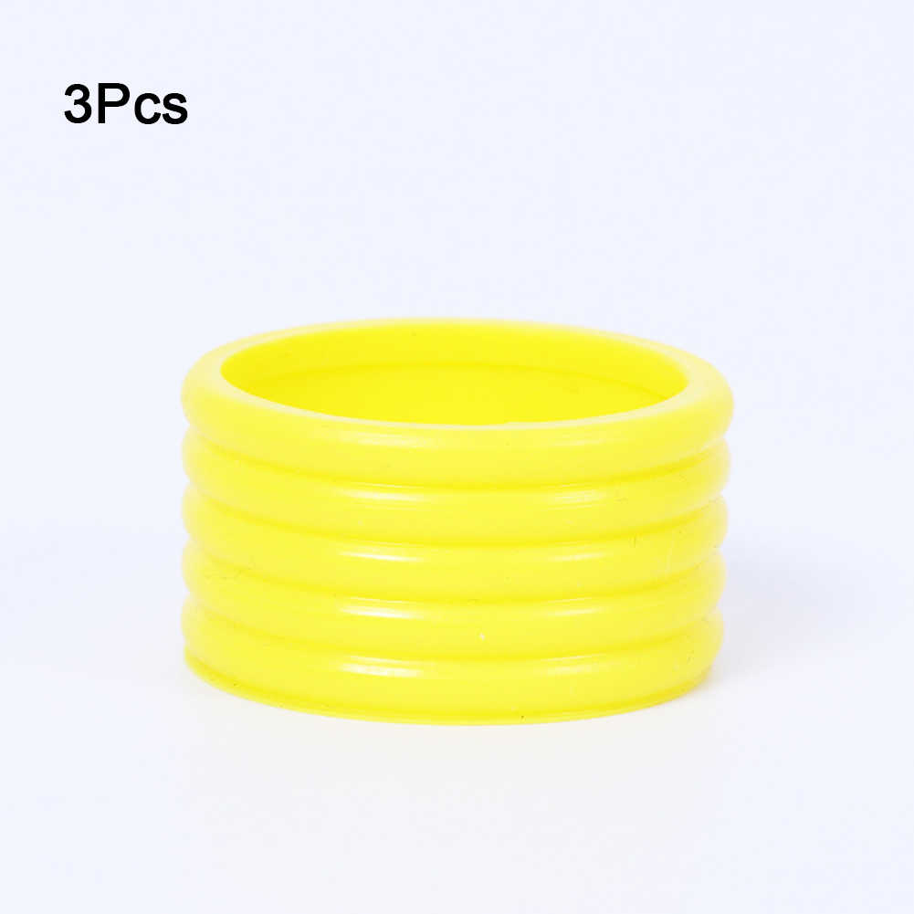 Absorb Elastic 3pcs Fix Ring Sweat Silicone Overgrip Badminton Racket Protector Sports Band Stretchy Racquet Tennis Grip Ring