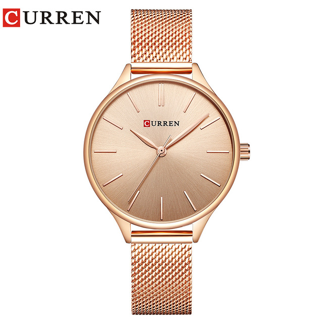 CURREN Hot Fashion Simple Style New Ladies Bracelet Watches Women Dress Wristwat