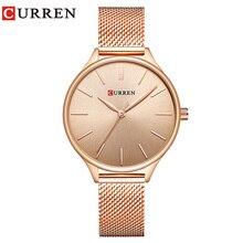 CURREN Hot moda prosty styl nowa bransoletka damska zegarki kobiety sukienka zegarek kwarcowy kobieta zegar prezenty relogios feminino