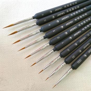 Juego de pinceles de pintura en miniatura 5 uds, pincel profesional de nailon, pintura acrílica fina con gancho, pluma de línea, suministros de arte, pintado a mano A3
