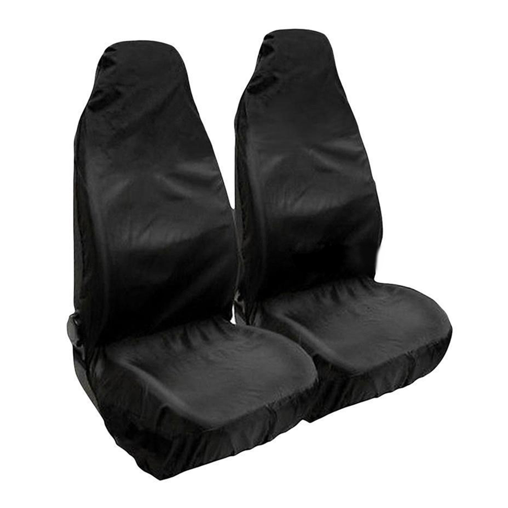 Universal Heavy Duty Nylon Car Seat Covers Waterproof Protectors Van Front Black(China)