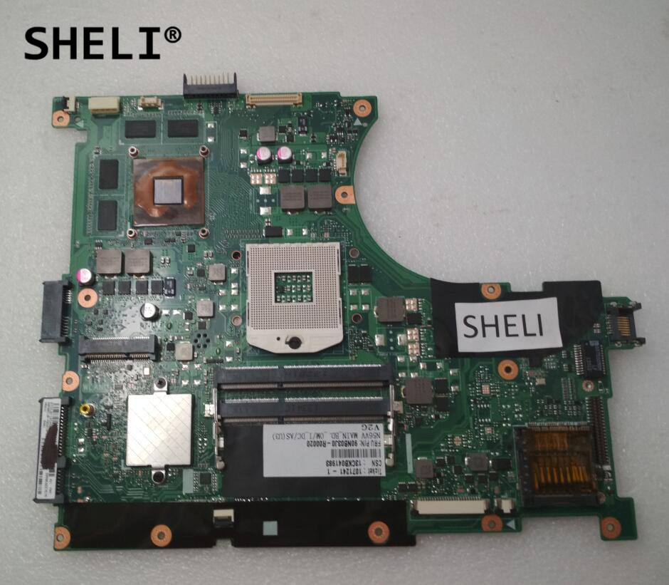 SHELI For Asus N56VV Motherboard with GT750M Video Card 2GB Video Memory