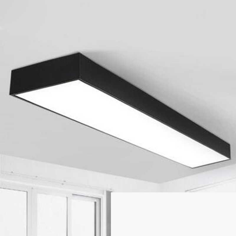 Lampa LED biuro lampa sufitowa nowoczesny minimalistyczny prostokątny balkon przejściach i korytarzach korytarz długi sufit u nas państwo lampy biuro oświetlenie LED oprawa led