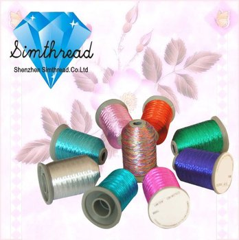 Simthread new arrived Metallic embroidery thread 550 yard mini cone popular 30 colors