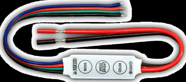 R101-FW;Mini 3-Key RGB LED controller;DC12V input;4A*3channel output