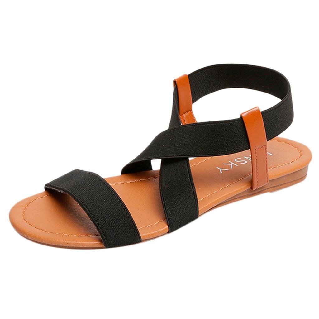 2019 Women's Sandals Spring Summer Ladies Shoes Low Heel Anti Skidding Beach Shoes Peep-toe Fashion Casual Walking sandalias