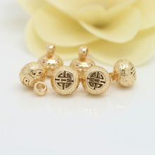 4PCS 10x12MM 24K Champagne Gold Color Plated Brass Buddha Charms Pendants High Quality Diy Jewelry Accessories