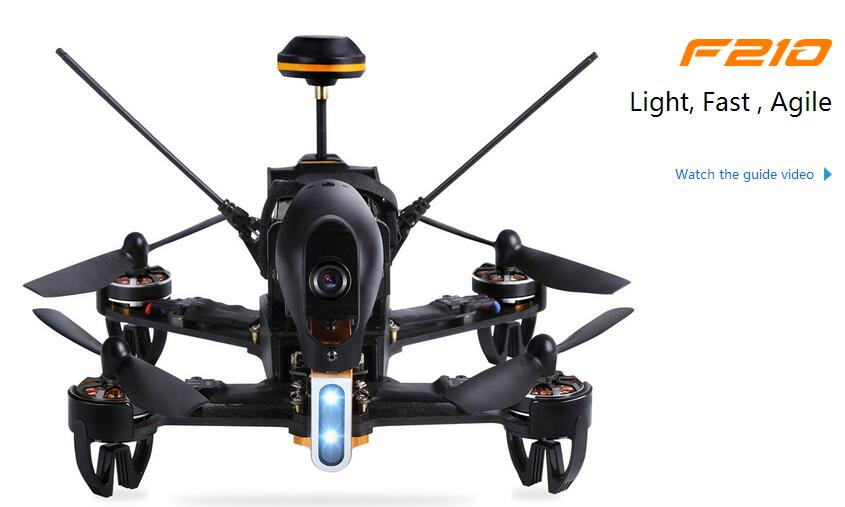 Livraison gratuite Walkera F210 DEVO7 émetteur FPV Drone avec caméra 700TVL RC...