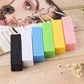 Hot New 1 Unid Perfume En Forma de Cuadrado De Moda Portátil de Energía Móvil caso Caja USB 18650 Tapa de La Batería con Llavero para iphone