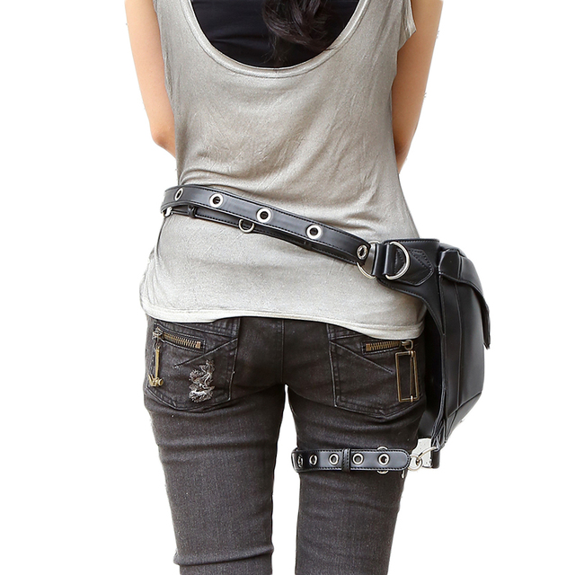 Steampunk Bag Steam Punk Retro Rock Gothic Goth Shoulder Waist Bags Packs Victorian Style for Women Men + leg Thigh Holster Bag