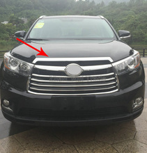 For Toyota Highlander 2014 2015 2016 ABS Chrome Front Grille Around Hood Trim