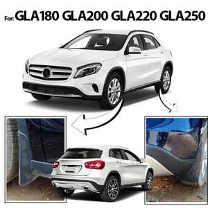Image 4 - סט צורניים דשים עבור בנץ GLA180 GLA 220 GLA 200 GLA250 X156 2014 2015 2016 2017 משמרות Splash Mudflaps מגני בץ קדמי אחורי